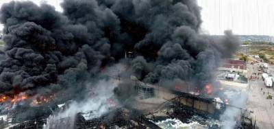 فرانس، کیمیائی پلانٹ میں آتشزدگی، فصلوں کی کاشت اور جانوروں کی خرید و فروخت پر پابندی