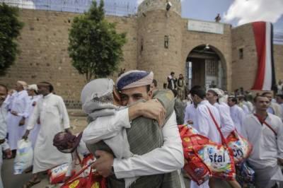 یمن کے حوثی باغیوں نے 290 قیدیوں کو رہا کر دیا