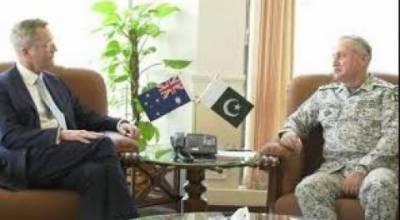 آسٹریلوی ہائی کمشنر کی پاک بحریہ کے سر براہ سے ملاقات,فاعی اشتراک پرتبادلہ خیال