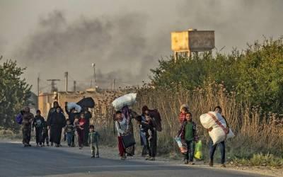 شمالی شام میں ترک فوج کا 11دیہات پر قبضہ، لوگوں کی نقل مکانی شروع