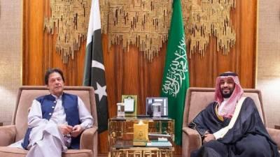 سعودی ولی عہد شہزادہ محمد بن سلمان اور وزیر اعظم عمران خان کی ریاض میں ملاقات۔