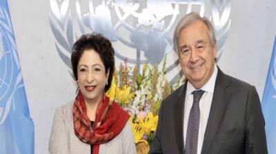 ملیحہ لودھی نے سیکرٹری جنرل اقوام متحدہ کو مقبوضہ کشمیر میں لوگوں کی حالت زار سے آگاہ کیا