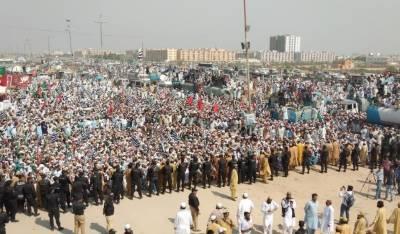 مولانا فضل الرحمان کا آزادی مارچ روانہ