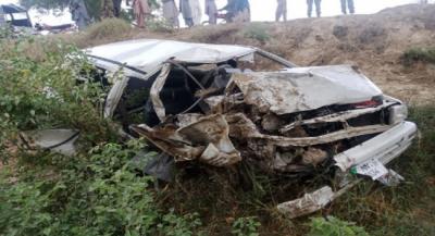 مظفرگڑھ: بس کی کار کو ٹکر، 3 افراد جاں بحق، 3 شدید زخمی
