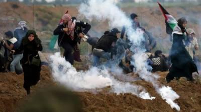 غزہ میں اسرا ئیلی فو ج کی فا ئرنگ 96فلسطینی زخمی