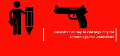 صحافیوں کیخلاف استثنی کے خاتمے کا آج عالمی دن منایا جارہا ہے
