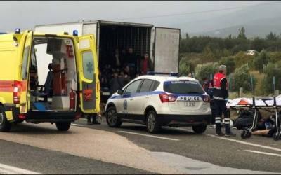 یونان میں ایک ٹرک سے 41 مہاجرین زندہ حالت میں برآمد