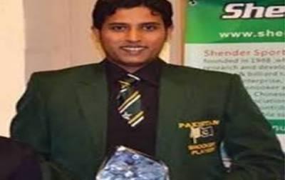محمد آصف آئی بی ایس ایف ورلڈ سنوکر چیمپئن شپ کا ٹائٹل جیتنے کے بعد وطن واپس پہنچ گئے