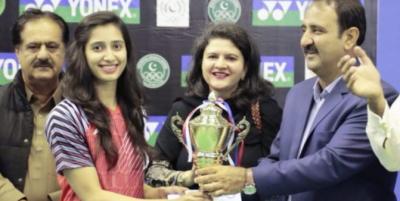 پاکستانی بیڈمنٹن اسٹار ماحور شہزاد نے گولڈ میڈل جیت لیا