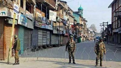 مقبوضہ کشمیر میں آج مسلسل سوویں دن فوجی محاصرہ اورپابندیاں بدستوربرقرار