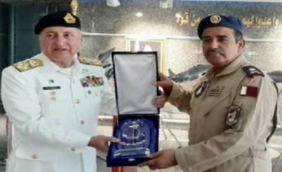 سربراہ پاک بحریہ کا پاکستان اورقطرکےعسکری اداروں کے درمیان روابط مزید مضبوط بنانےپرزور