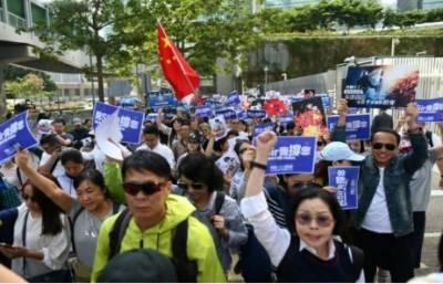 ہانگ کانگ میں حکومت کے حامیوں کا مارچ،پولیس کے حق میں نعرے