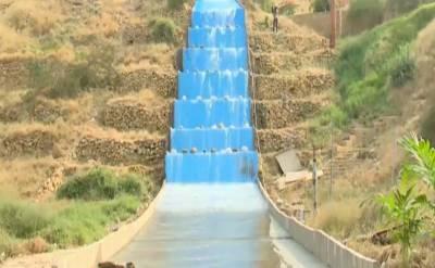 شہرقائد میں کشمیر پوائنٹ آبشار کا افتتاح