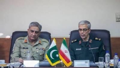 آرمی چیف ایران کے دورے پر تہران پہنچ گئے, ایران کی مسلح افواج کے چیف آف اسٹاف میجر جنرل محمد حسین سے ملاقات میں علاقائی سلامتی کے حوالے سے تبادلہ خیال