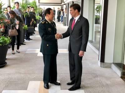 چین اور امریکہ کے وزرائے دفاع میں ملاقات