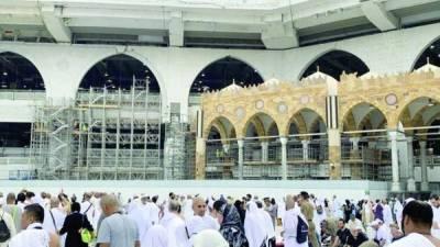 مسجد حرام کے مطاف میں قوس دار محرابوں کا کام رمضان سیزن میں مکمل ہوگا