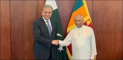 وزیر خارجہ شاہ محمود قریشی کی سری لنکن ہم منصب سے ملاقات