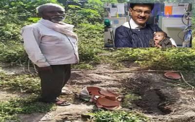 مٹی کے مدفون برتن سے زندہ ملنے والی نومولود بچی کوڈاکٹروں نے بچا لیا