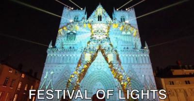 فرانس کے شہر لیون میں سالانہ فیسٹیول آف لائٹس کا باقاعدہ آغاز