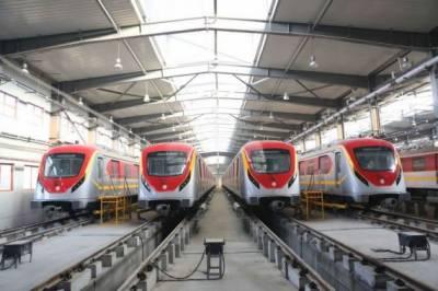 سی پیک کے منصوبے کے تحت اورنج لائن ٹرین کی پہلی آزمائش کا افتتاح