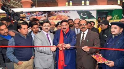 شیخ رشید کا لاہور ریلوے سٹیشن سے واہگہ سٹیشن تک جلو شٹل ٹرین کا افتتاح