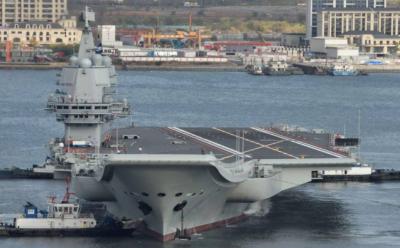 چین میں تیار ہونے والا پہلا طیارہ بردار بحری جہازبحریہ کے حوالے