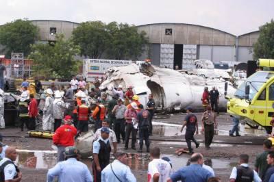 افریقی ملک وینزویلا میں مسافر طیارہ گرکرتباہ 9 افراد ہلاک