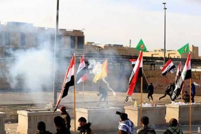 عراق: مظاہرین کا امریکی افواج کے انخلاء تک احتجاج جاری رکھنے کا اعلان