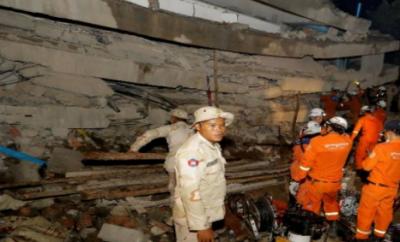 کمبوڈیا میں عمارت منہدم، ہلاکتوں کی تعداد 36 ہو گئی
