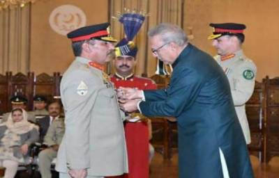 صدر مملکت نے جنرل ندیم رضا کو نشان امتیاز ملٹری عطا کر دیا