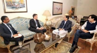 سپیکر چودھری پرویزالٰہی اور مونس الٰہی ایم این اے سے برطانوی ہائی کمشنر ڈاکٹر کرسٹن ٹرنر اور سربراہ DFID لاہور جے نال کی ملاقات