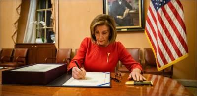 نینسی پلوسی نے ٹرمپ کے مواخذے کی قرارداد پر دستخط کر دیے
