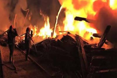 وزیرآبادکےریلوے ڈپومیں لگی آگ پرقابوپالیاگیا