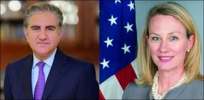 امریکی نائب معاون وزیرخارجہ ایلس ویلز آج شاہ محمود قریشی سے ملاقات کریں گی