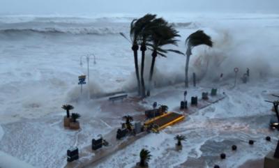 سپین: سمندری طوفان گلوریا سے تباہی، 3 افراد ہلاک،200 پروازیں منسوخ