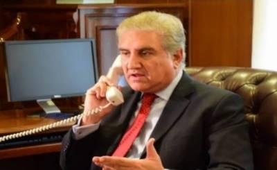 وزیر خارجہ مخدوم شاہ محمود قریشی کا برطانوی وزیر خارجہ ڈومینک راب سے ٹیلیفونک رابطہ , باہمی دلچسپی کے اہم علاقائی و دوطرفہ معاملات پر تبادلہ خیال