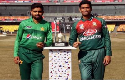 پاکستان اور بنگلہ دیش کے درمیان تین میچوں کی ٹی ٹوئنٹی سیریز کا پہلا میچ آج کھیلا جائے گا