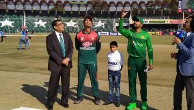 پہلا ٹی ٹوئنٹی:بنگلادیش نے ٹاس جیت کر پہلے بیٹنگ کا فیصلہ کیا