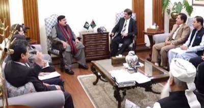 وزیراعلیٰ سندھ مراد علی شاہ سے وزیر ریلوے شیخ رشید کی ملاقات