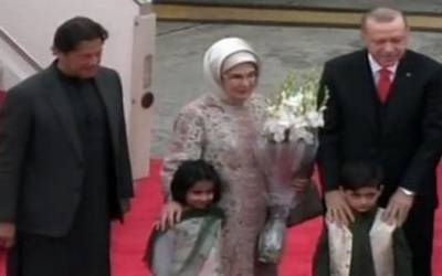 ترک صدر طیب اردوان پاکستان کے 2 روزہ دورے پر اسلام آباد پہنچ گئے