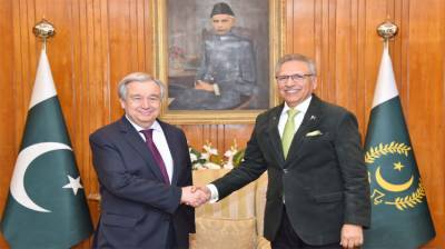 میں نے پاکستان کوہمیشہ پناہ گزینوں کوخوش آمدیدکہتے دیکھاہے:سیکرٹری جنرل اقوام متحدہ