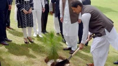 وزیراعظم نے میانوالی میں پودا لگاکر شجرکاری مہم کا افتتاح کیا