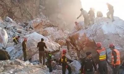بونیر،منہدم کان میں پھنسے مزدوروں کو نکالنے کیلئے بچاؤ کی کارروائی جاری