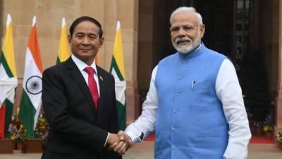 میانمار کے صدر یو ون مائنٹ کی نریندر مودی سے ملاقات