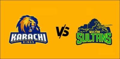 پی ایس ایل کی مقبول ترین ٹیم کراچی کنگز کا مقابلہ ملتان سلطانز سے ہوگا