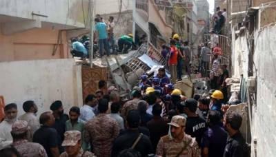 کراچی:عمارت گرنے سے جاں بحق افراد کی تعداد 16ہوگئی، ریسکیو آپریشن جاری