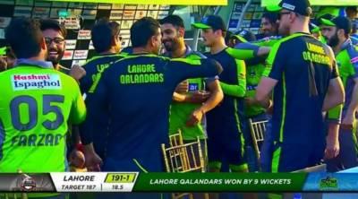 پی ایس ایل: لاہور قلندرز نے ملتان سلطانز کو 9 وکٹوں سے ہرا کر پہلی مرتبہ سیمی فائنل میں جگہ بنا لی