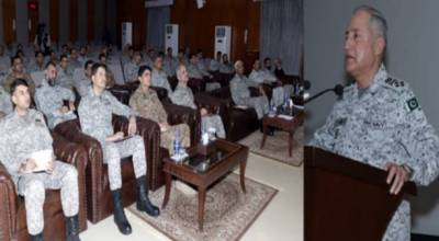 پاک بحریہ کے سربراہ ایڈمرل ظفر محمود عباسی کاپاکستان ائیر فورس ائیر وار کالج کا دورہ