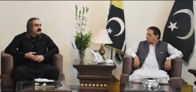 وزیر اعظم آزادکشمیر محمد فاروق حیدرخان اور وزیر امور کشمیرعلی امین گنڈا پور میں ملاقات