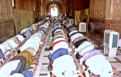 لاہور: پنجاب میں مساجد میں نمازیوں کی تعداد کم کرنے کے احکامات جاری